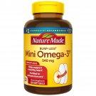 Nature Made Mini Omega 3 Dietary Supplement Heart Health 540 mg 120 S0ftgels