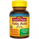 Nature Made Folic Acid 400 mcg (665 mcg DFE) 250 Tablets
