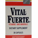 Vital Fuerte Regular Dietary Supplement Antioxidant 30 Capsules