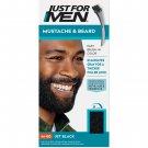 Just For Men Mustache & Beard Coloring for Gray Hair Brush Included Jet Black M-60