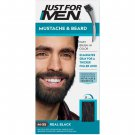 Just For Men Mustache & Beard Coloring for Gray Hair Brush Included Real Black M-55