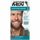 Just For Men Mustache & Beard Coloring for Gray Hair Brush Included Medium Brown M-35