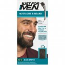 Just For Men Mustache & Beard Coloring for Gray Hair Brush Included Dark Brown M-45