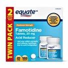 Equate Maximum Strength Acid Reducer Famotidine Tablets 20 mg 100 Tablets