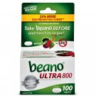 Beano Ultra 800 Gas Prevention and Digestive Enzyme Supplement 100 Tablets