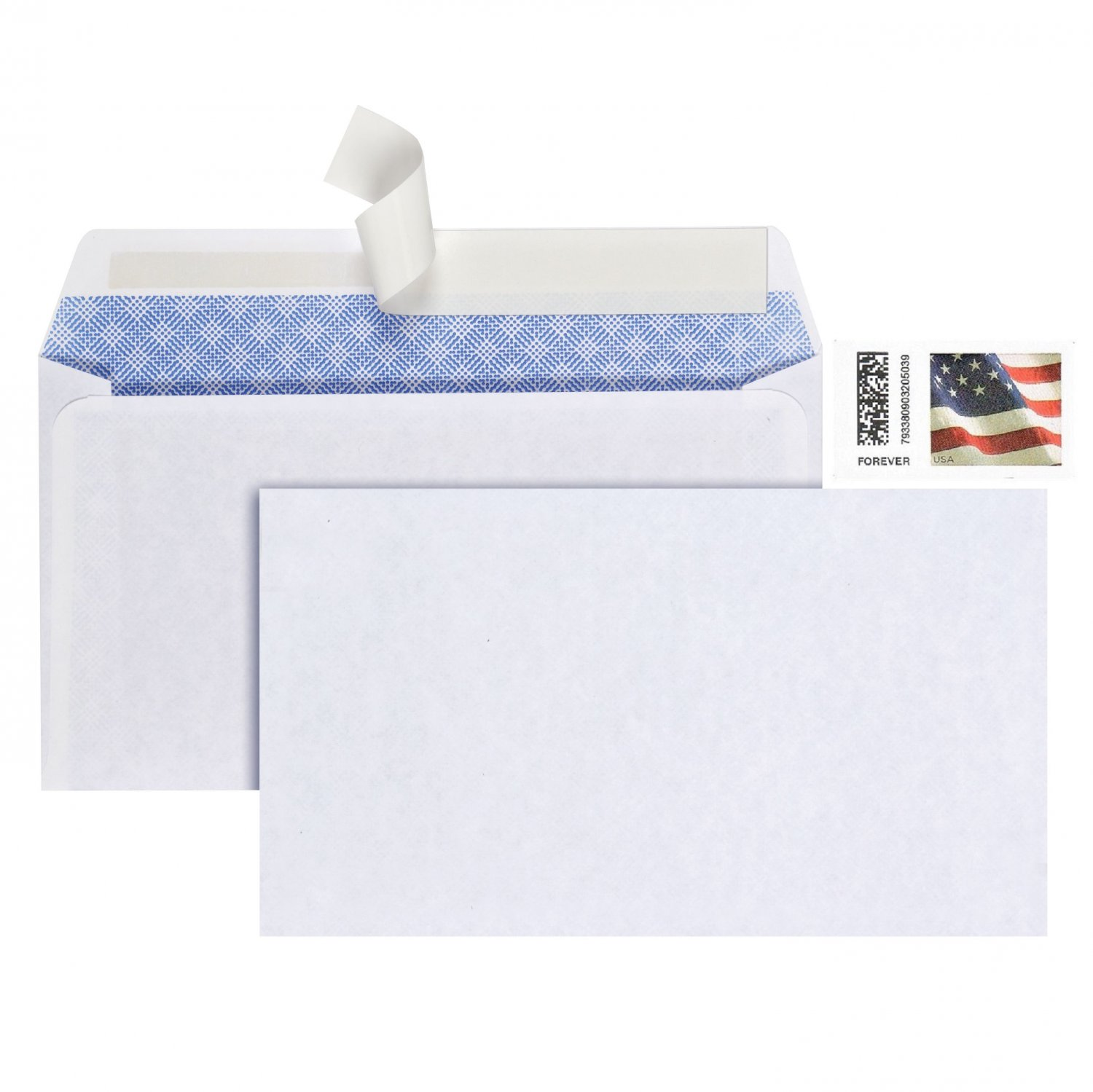 PEN+GEAR Security Envelopes White #6-3/4 (3-5/8 x 6-1/2 in) Peel & Stick 50 Count