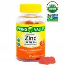 Spring Valley Zinc 22mg Organic Vegetarian Gummies 60 Count