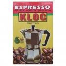 Kloc Espresso Coffee Maker Stove Top 5 Cup
