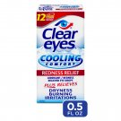Clear Eyes Cooling Comfort Redness Relief Eye Drops Soothes Red Eyes 0.5 oz