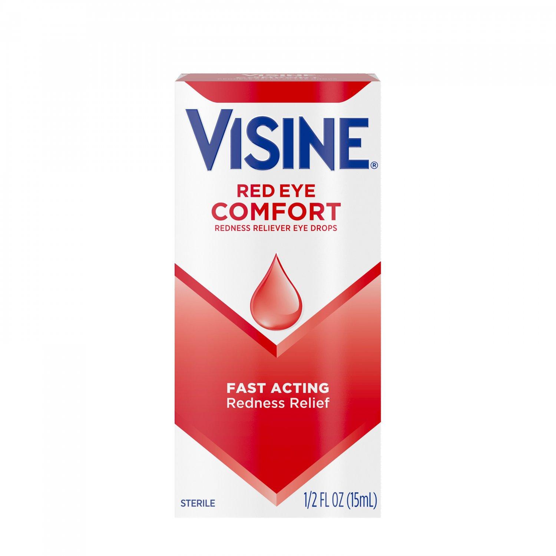 Visine Red Eye Comfort Redness Relief Eye Drops 0.5 oz
