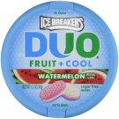Ice Breakers Duo Fruit + Cool Watermelon Sugar Free Mint 1.3 oz Pack (2 Pack)