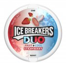 Ice Breakers Duo Fruit + Cool Strawberry Sugar Free Mint 1.3 oz  Pack (2 Pack)