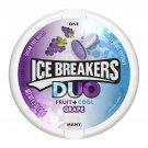 Ice Breakers Duo Fruit + Cool Grape Sugar Free Mint 1.3 oz Pack (2 Pack)