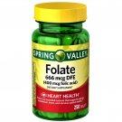 Spring Valley Folate 666 mcgm DFE (Folic Acid 400 mcg) 250 Tablets