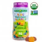 Spring Valley Organic Kids' Multivitamin Vegetarian Gummies 90 Count