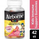 Airborne Kids Immune Support Supplement Gummies Assorted Fruit 42 Count