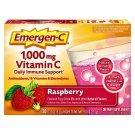 Emergen-C 1000mg Vitamin C w/ Antioxidants B Vitamins & Electrolytes Raspberry 30 Packets
