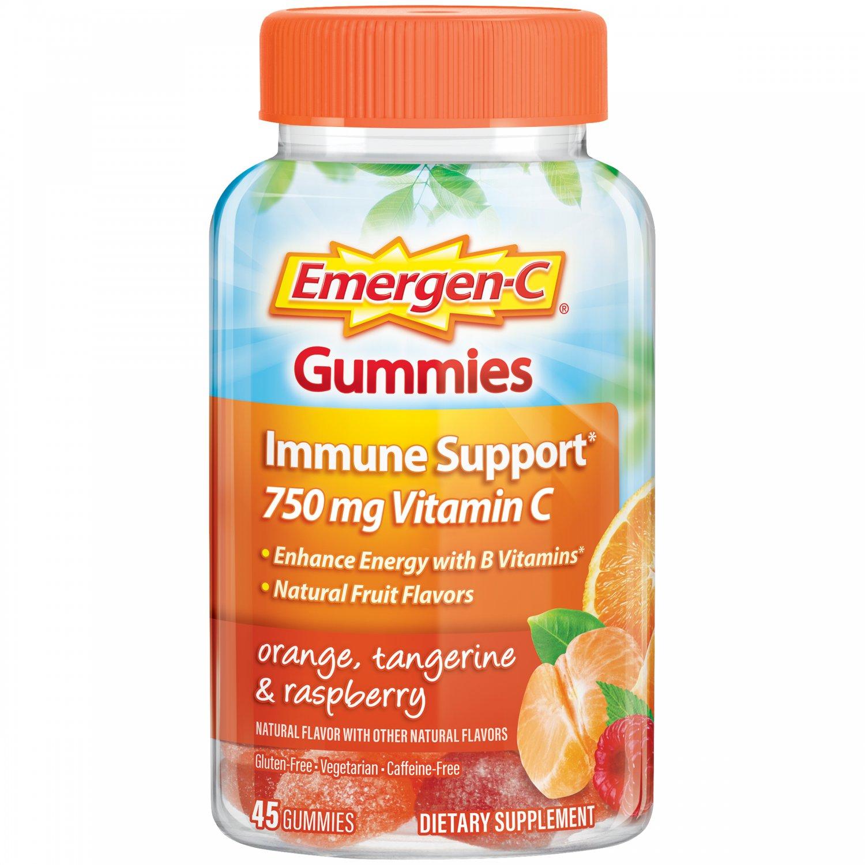 Emergen-C Vitamin C With B Vitamins 750 mg Immune Support 45 Gummies