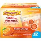 Emergen-C 1000mg Vitamin C w/ Antioxidants B Vitamins & Electrolytes Super Orange 60 Packets