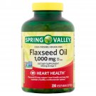 Spring Valley Flaxseed Oil 1000 mg & Omega 450 mg Fatty Acid Supplements 200 Softgels