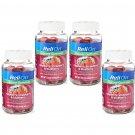 ReliOn Glucose Raspberry  Strawberry & Blueberry (60 Gummies Bottle) 4 Bottless