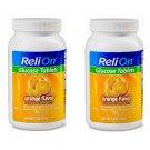 ReliOn Glucose Tablets Orange Flavor (50 Tablets Bottle) 2 Bottles