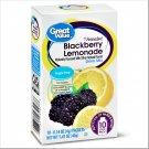 3 Boxes Great Value Antioxidant Sugar-Free Blackberry Lemonade Drink Mix (10 Count Box)