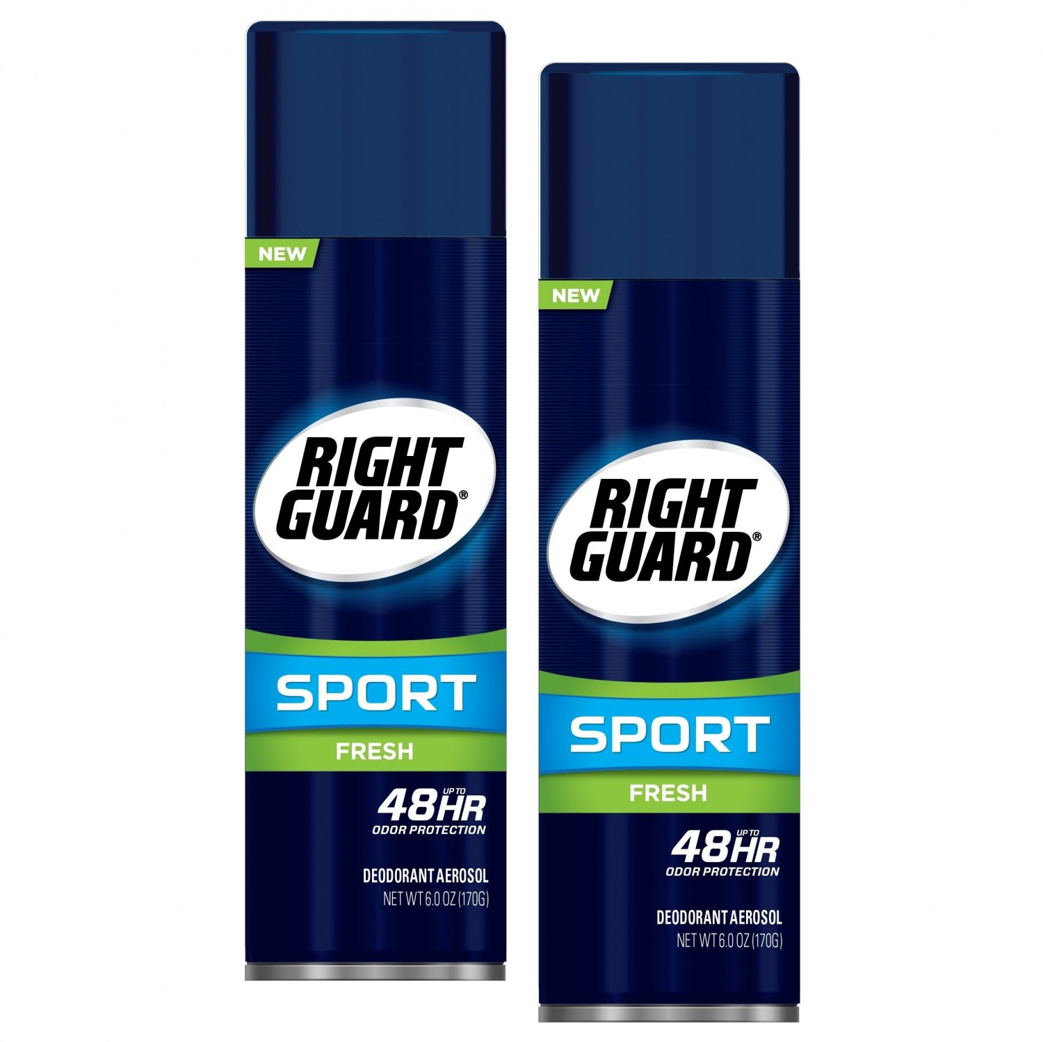 Right Guard Sport Antiperspirant Deodorant Aerosol Spray Fresh 6 Oz (2 Pack)
