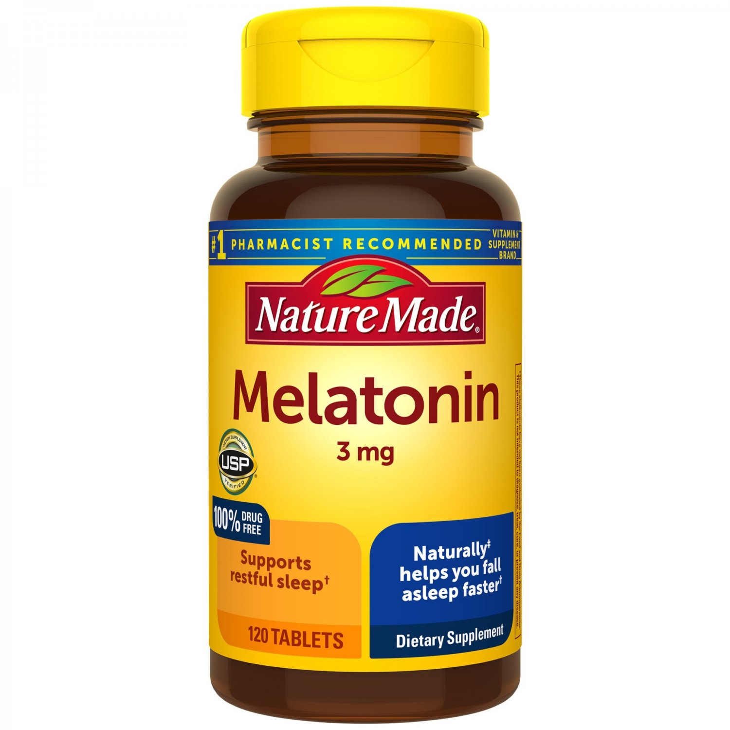 Nature Made Melatonin 3 mg for Supporting Restful Sleep 120 Tablets