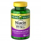 Spring Valley Niacin Capsules 500 mg Metabolism Support 120 Count