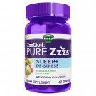 Vicks ZzzQuil Pure Zzzs De-Stress Melatonin Sleep 1 mg 42 Gummies