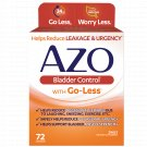AZO Bladder Control with Go-Less Reduces Occasional Urgency & Leakage 72 Count