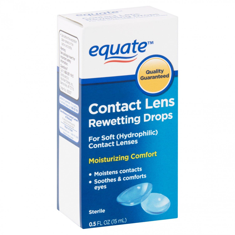 Equate Contact Lens Rewetting Eye Drops 0.5 Oz