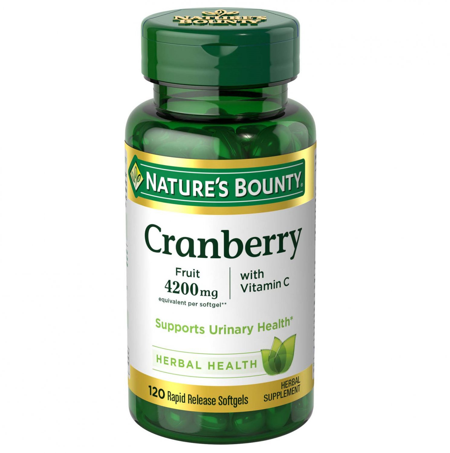 Nature's Bounty Cranberry Softgels, 4200 Mg, 120 Count