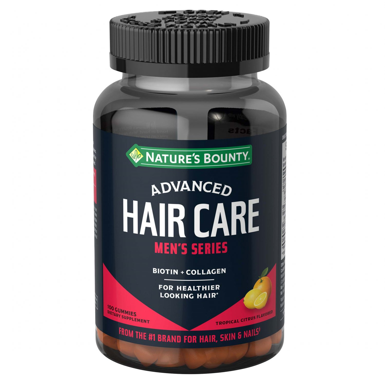 Nature's Bounty Advanced Men's Series Hair Gummies, 100 Count