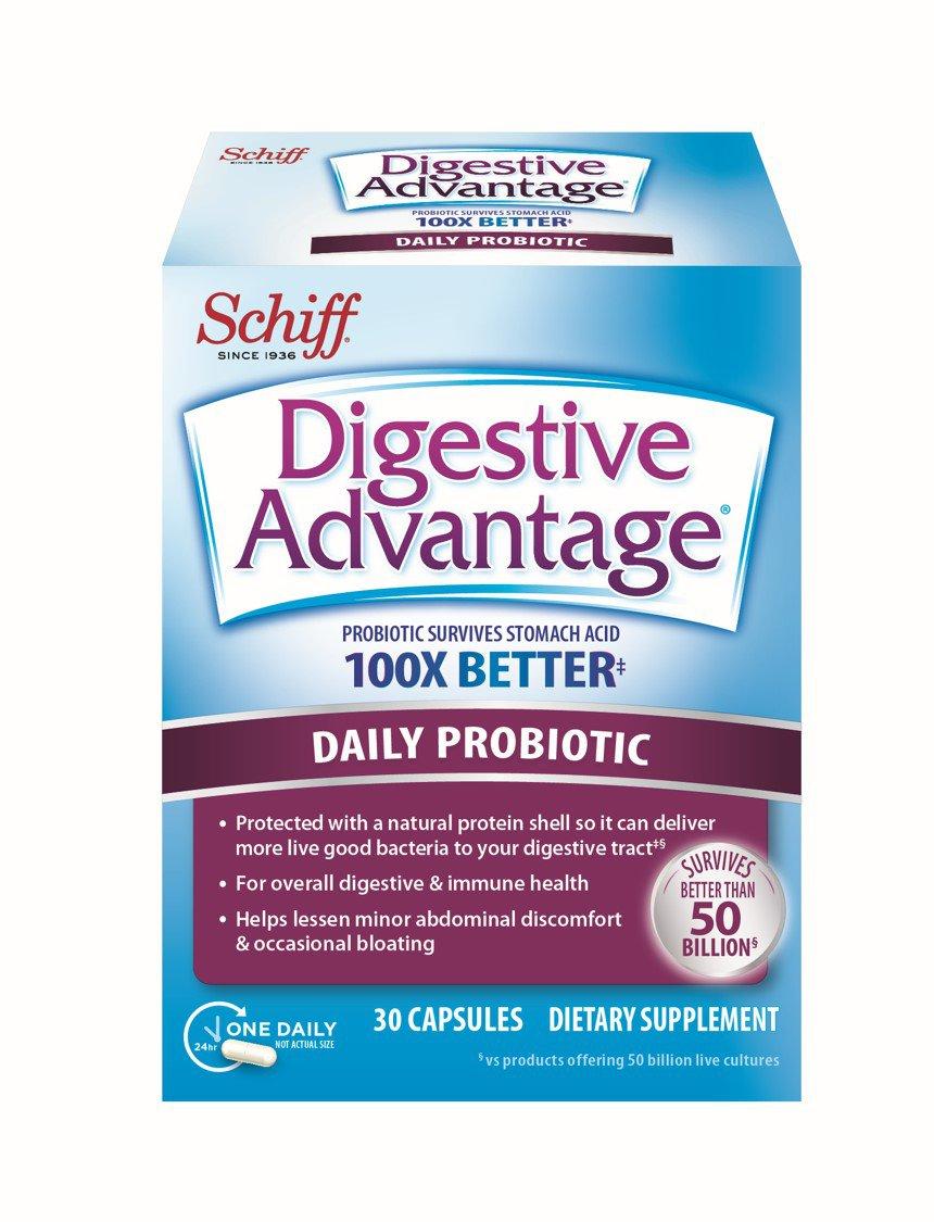 Digestive Advantage Daily Probiotic, 50 Billion 30 Capsules