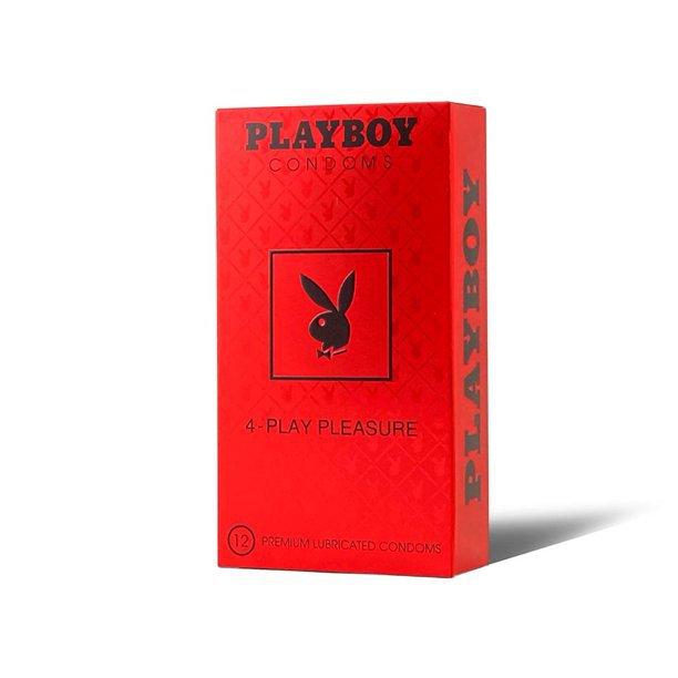Playboy 4-Play Pleasure Condoms 12 Count