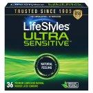 LifeStyles Ultra Sensitive Latex Condoms 36 Count