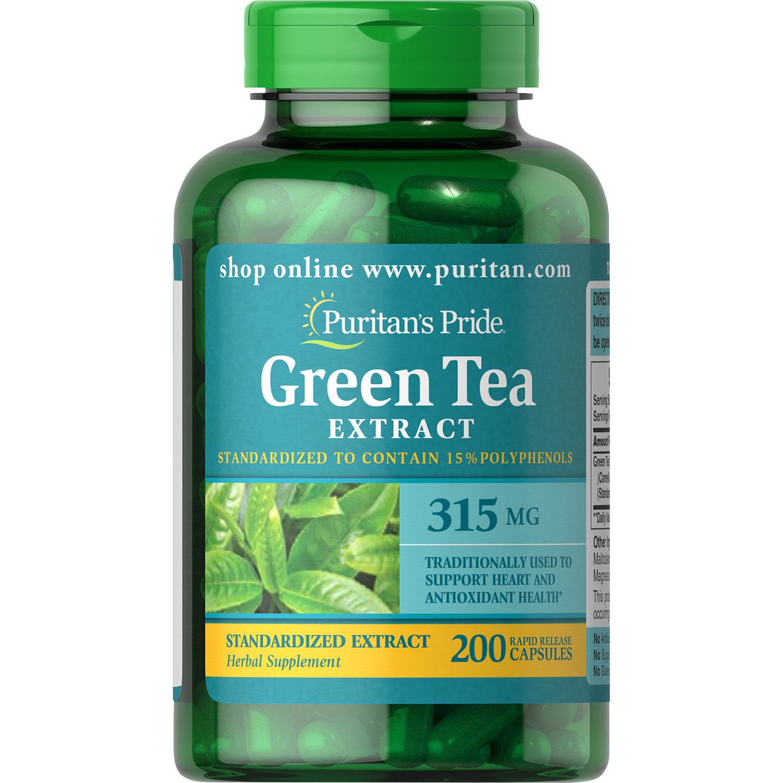 Puritan's Pride Green Tea Standardized Extract 315 mg, 200 Capsules
