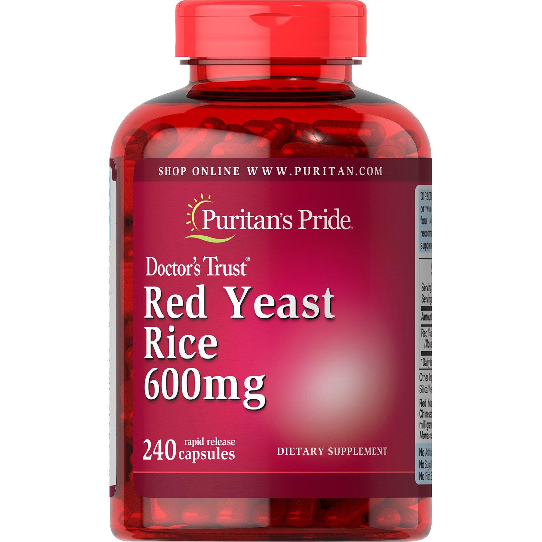 Puritan's Pride Red Yeast Rice 600 mg, 240 Capsules