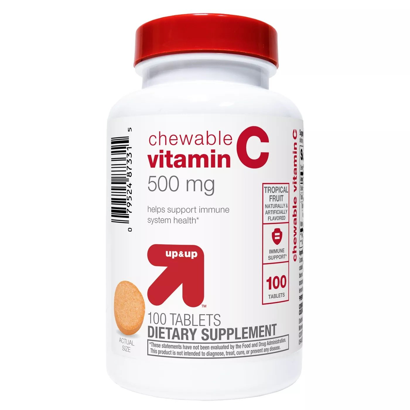 Vitamin C Chewable Tablets - Tropical Fruit - 100 Count - up & up