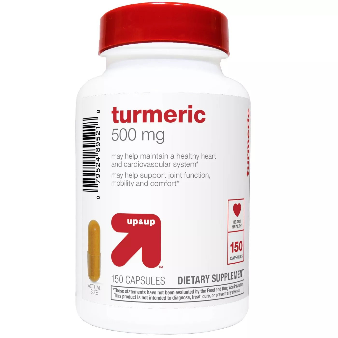 Turmeric 500 mg Supplement Capsules - 150 Count - up & up
