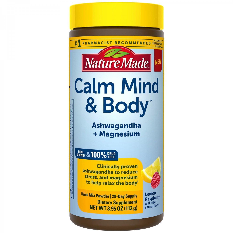 Nature Made Stress Solutions Calm Mind & Body Powder Drink Mix - 3.95 Oz
