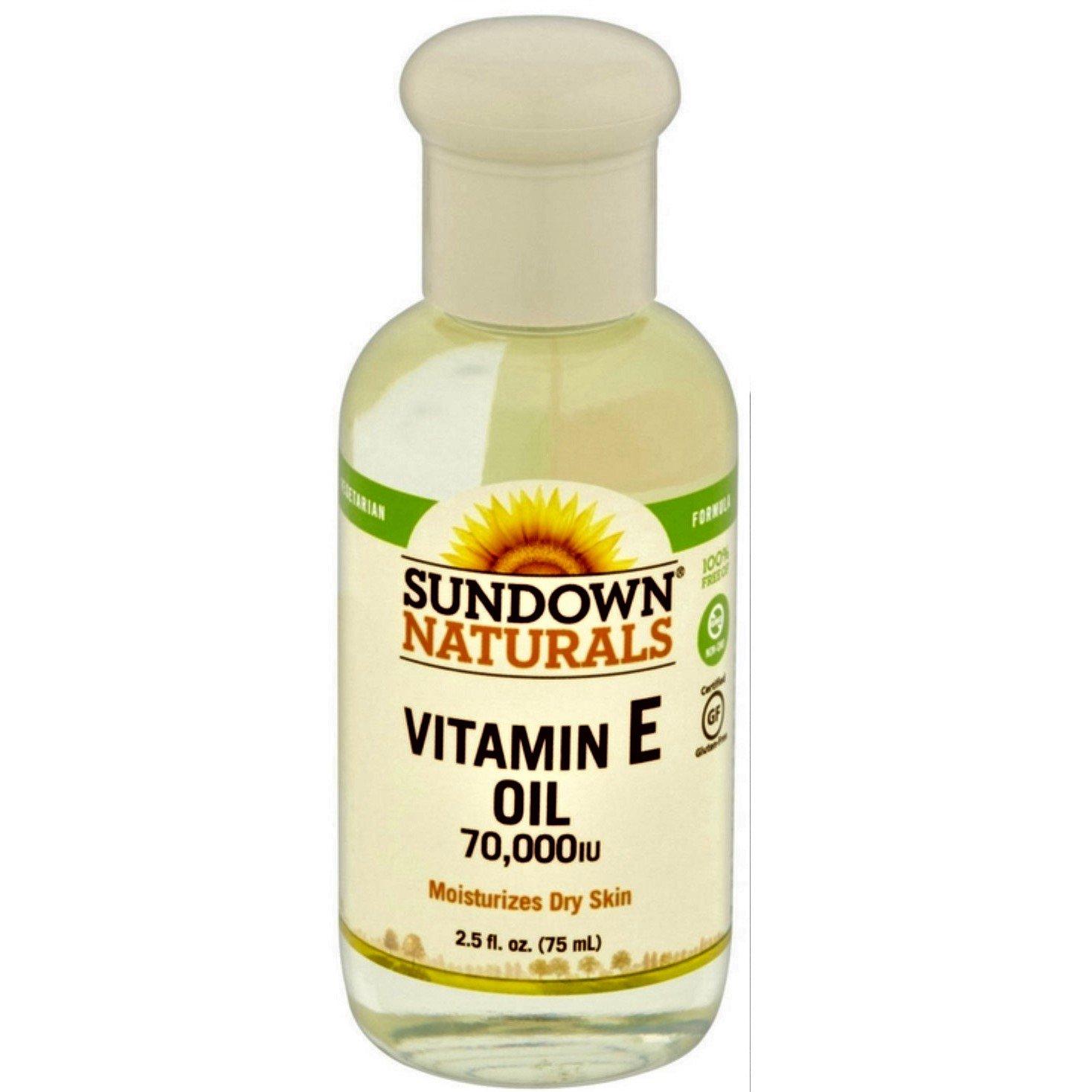 Sundown Naturals Pure Vitamin E-Oil 70000 IU, 2.5 Oz