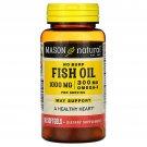 Mason Natural Fish Oil 1000 mg, Omega-3 300 mg, No Burp, 90 Softgels