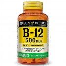 Mason Naturals Vitamins B-12, 500 mg, 100 Tablets