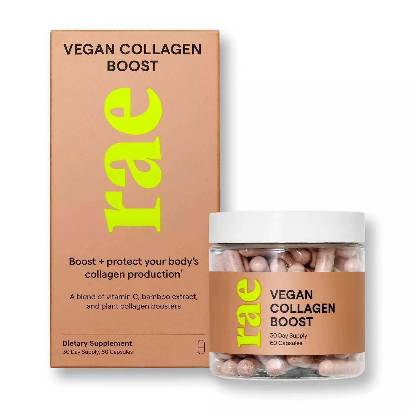 Rae Collagen Boost Dietary Supplement Natural Collagen Production 60 Capsules