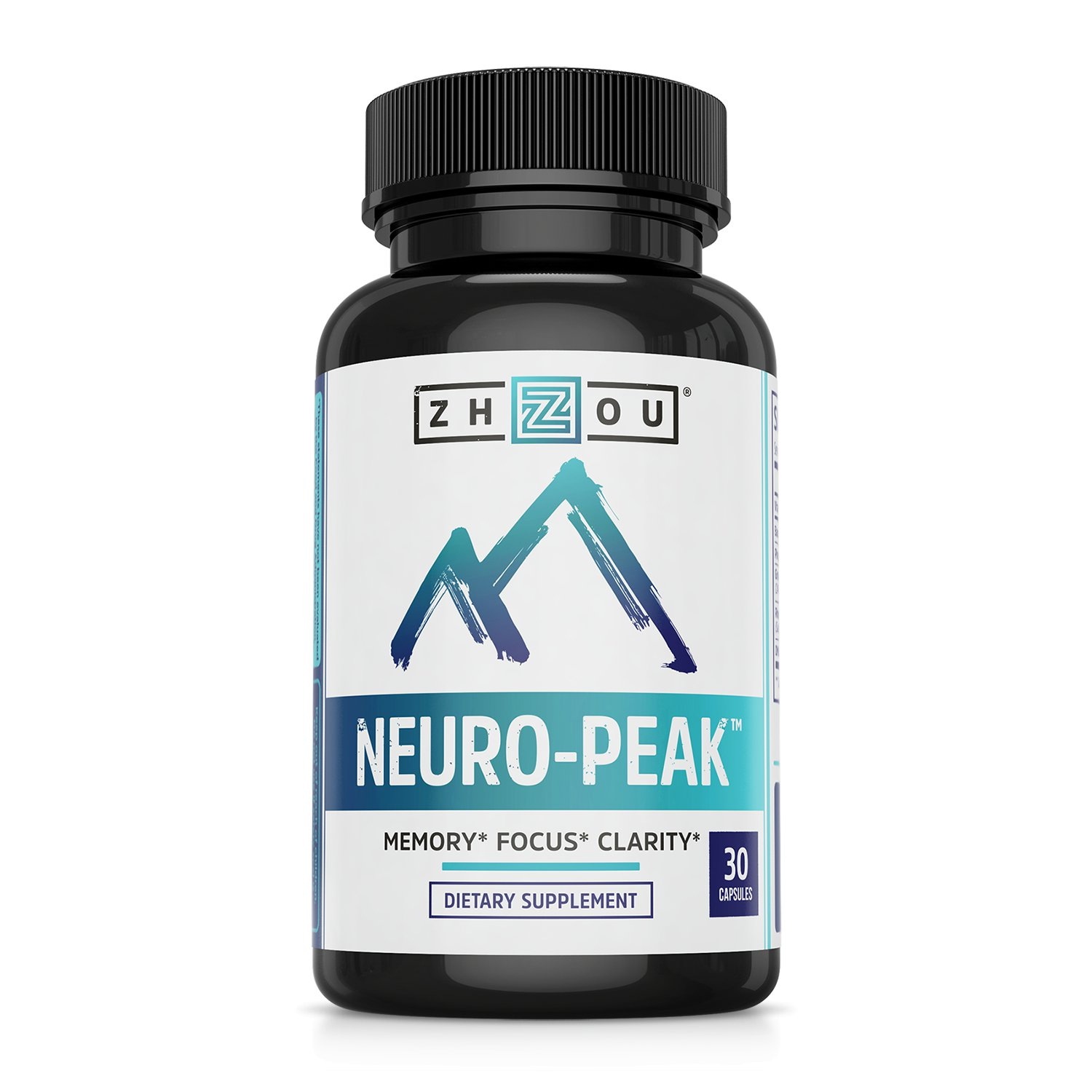 Memory, Focus and Clarity Supplement 30 Ct, Neuro-Peak by Zhou Nutrition