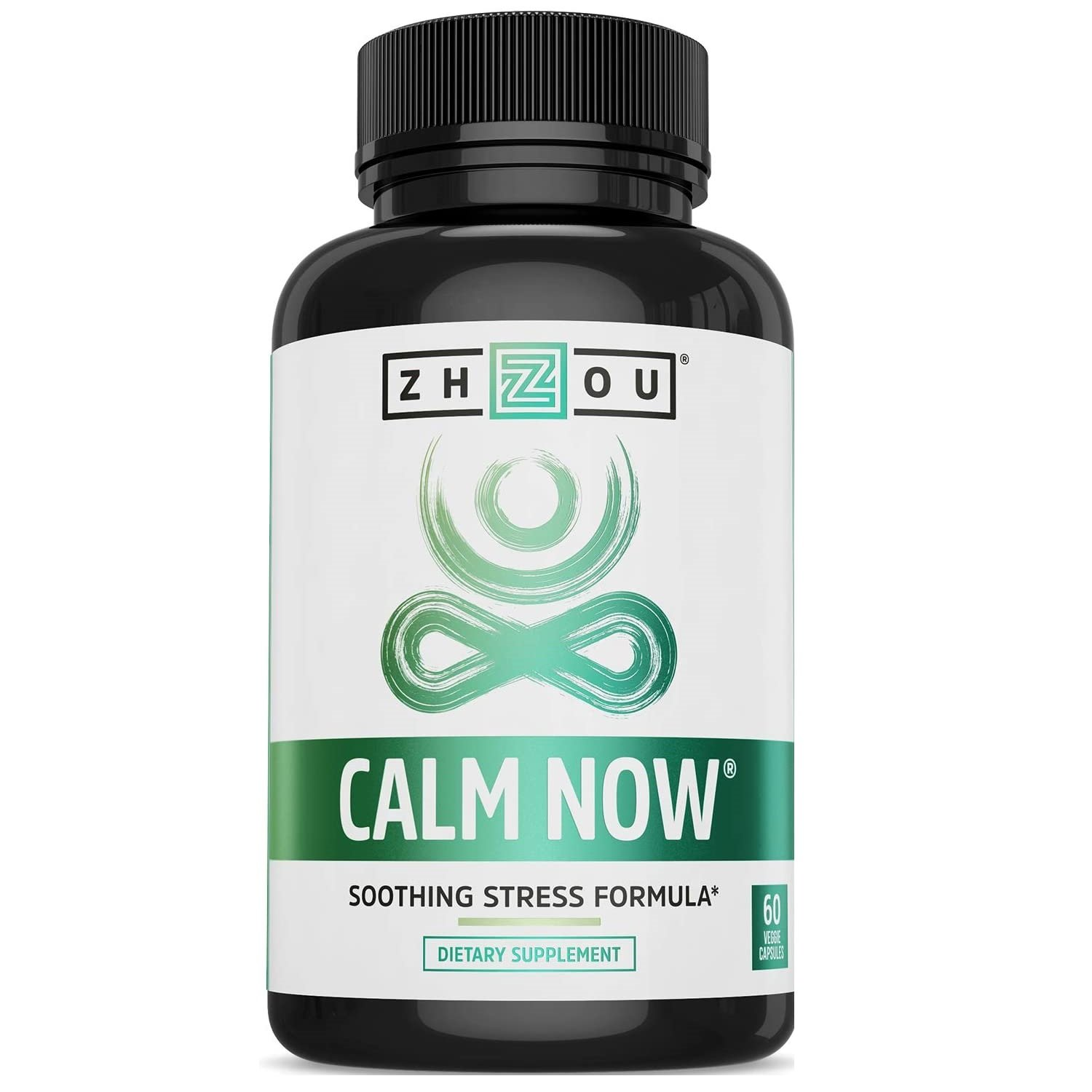 Anxiety and Stress Support Formula, 60 Ct, Calm Now by Zhou Nutrition