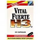 Vital Fuerte H3 Dietary Supplement Antioxidant 30 Capsules